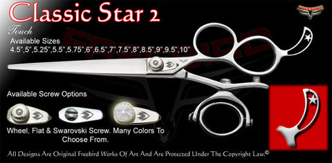 Classic Star 2 3 Hole Double V Swivel Touch Grooming Shears