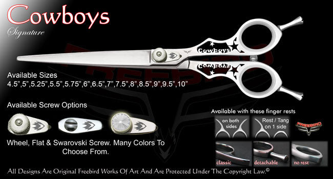 Cowboys Straight Signature Grooming Shears