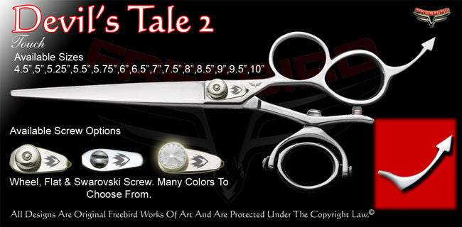 Devil's Tale 2 3 Hole Double V Swivel Touch Grooming Shears