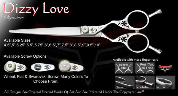 Dizzy Love Straight Signature Grooming Shears