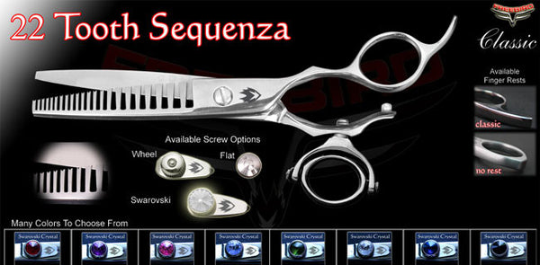 Double Swivel 22 Sequenza Texturizing Shears