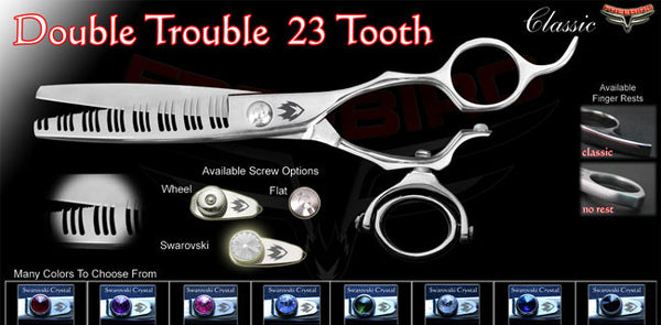 Double Swivel 23 Tooth Double Trouble Texturizing Shears