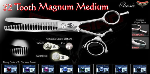 Double Swivel 32 Tooth Magnum Thinning Shears