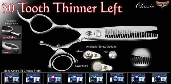 Double Swivel 30 Tooth Left Handed Thinning Shears