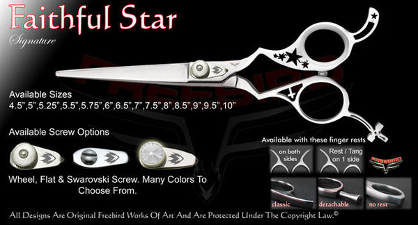 Faithfull Star Straight Signature Hair Shears