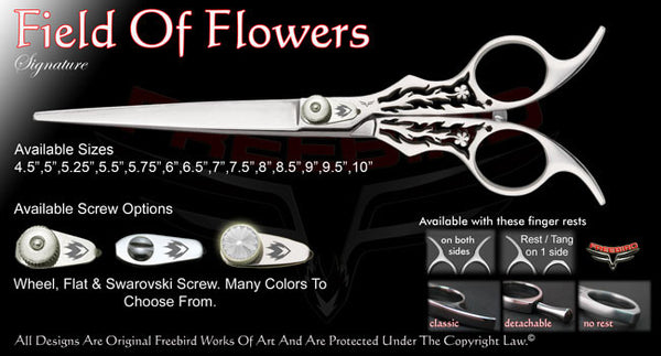 Field Of Flowers Straight Signature Grooming Shears