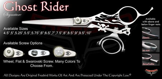 Ghost Rider Double Swivel Thumb Signature Hair Shears