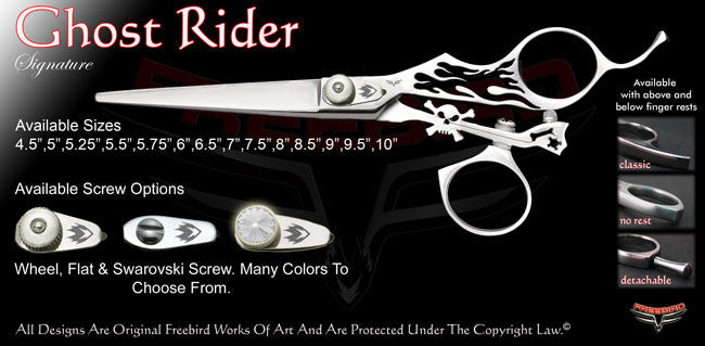 Ghost Rider Swivel Thumb Signature Hair Shears