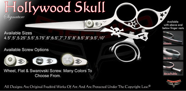 Hollywood Skull 3 Hole Double Swivel Thumb Signature Hair Shears