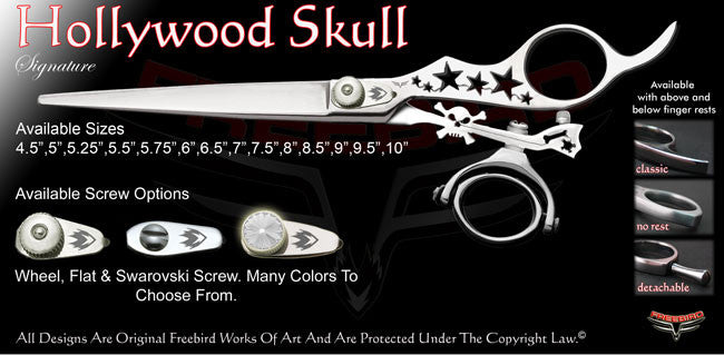 Hollywood Skull Double Swivel Thumb Signature Grooming Shears
