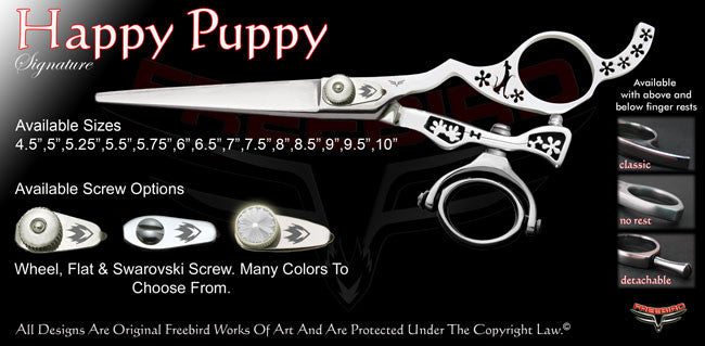 Happy Puppy Double Swivel Thumb Signature Hair Shears