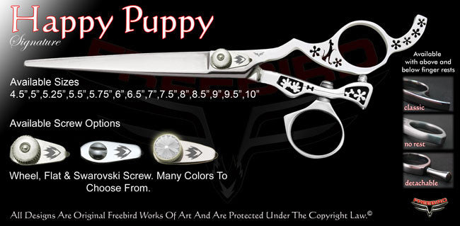 Happy Puppy Swivel Thumb Signature Grooming Shears