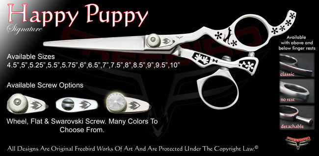 Happy Puppy Swivel Thumb Signature Hair Shears