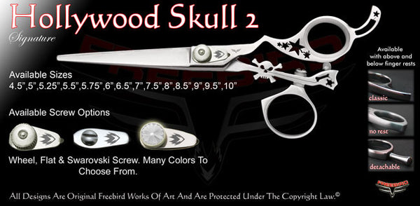 Hollywood Skull 2 Swivel Thumb Signature Hair Shears