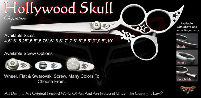 Hollywood Skull 3 Hole Signature Grooming Shears