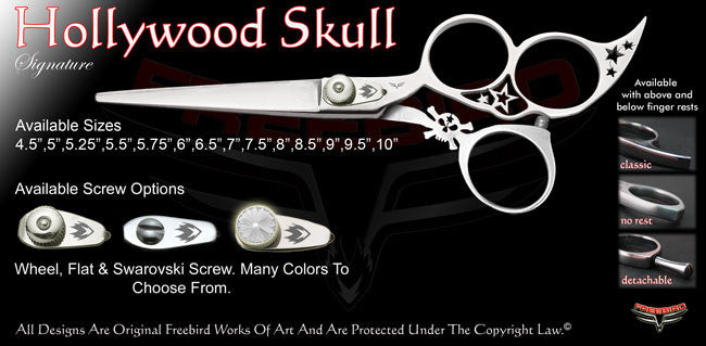 Hollywood Skull 3 Hole Signature Hair Shears