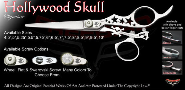 Hollywood Skull Swivel Thumb Signature Hair Shears