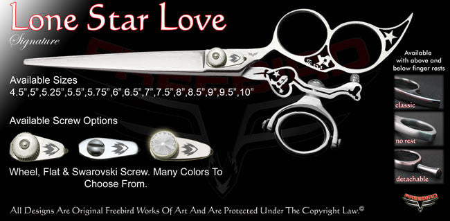 Lone Star Love 3 Hole Double Swivel Thumb Signature Grooming Shears