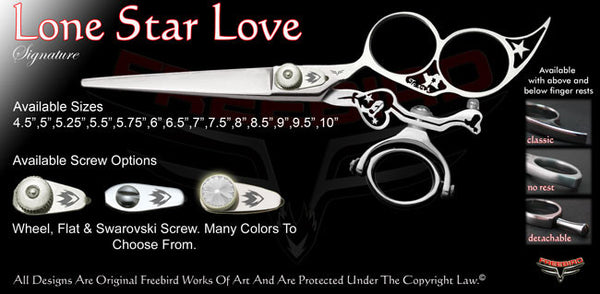 Lone Star Love 3 Hole Double Swivel Thumb Signature Hair Shears