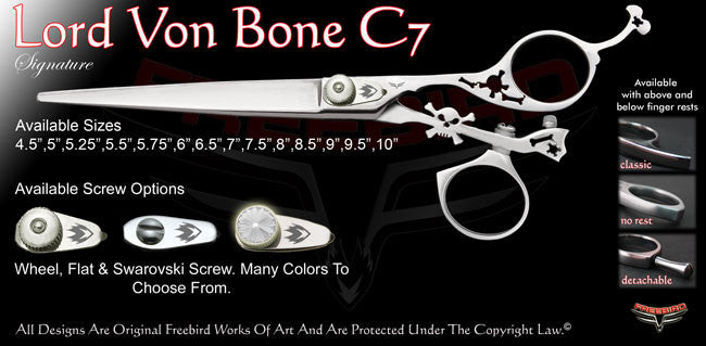Lord Von Bone C7 Swivel Thumb Signature Grooming Shears