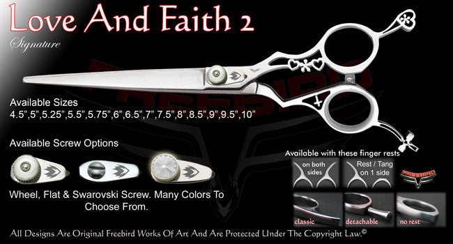 Love And Faith 2 Straight Signature Grooming Shears