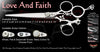 Love And Faith 3 Hole Swivel Thumb Signature Grooming Shears