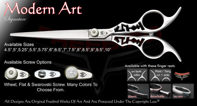 Modern Art Straight Signature Grooming Shears