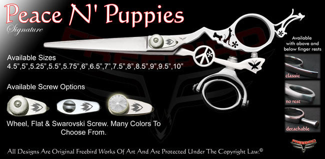 Peace N Puppies Double Swivel Thumb Signature Hair Shears