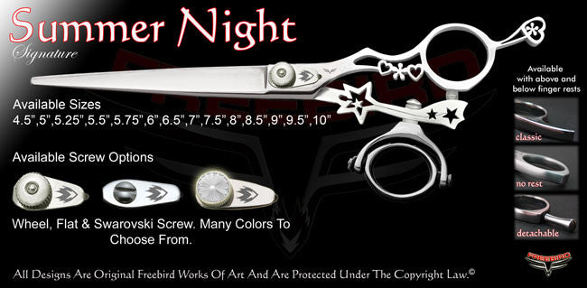 Summer Night Double Swivel Thumb Signature Grooming Shears