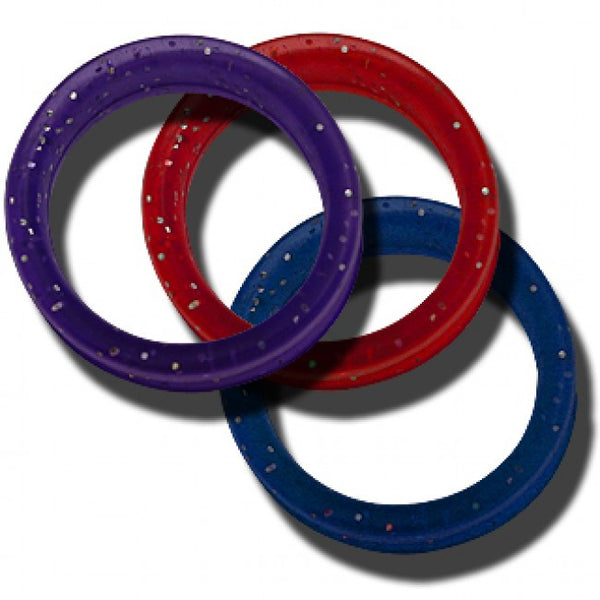 10 Soft Gummi Finger Rings Small Mixed Colors (5 different colors 2 each)