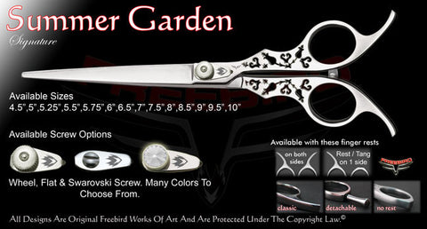 Summer Garden Straight Signature Grooming Shears