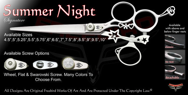 Summer Night 3 Hole Swivel Thumb Signature Grooming Shears