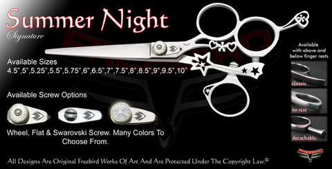 Summer Night 3 Hole Swivel Thumb Signature Hair Shears