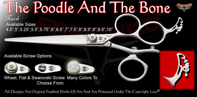 The Poodle And The Bone 3 Hole V Swivel Touch Grooming Shears