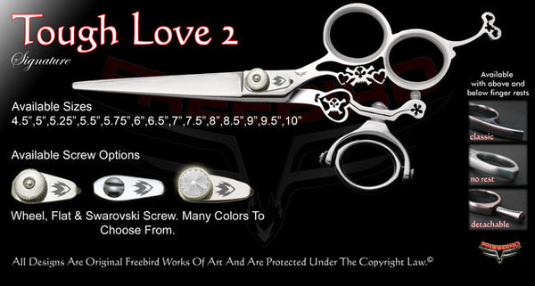 Tough Love 2 3 Hole Double Swivel Thumb Signature Hair Shears