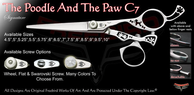 The Poodle And The Paw C7 Swivel Thumb Signature Hair Shears