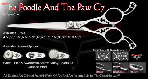 The Poodle And The Paw C7 Straight Signature Grooming Shears