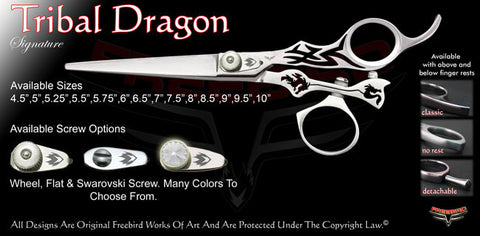 Tribal Dragon Swivel Thumb Signature Hair Shears