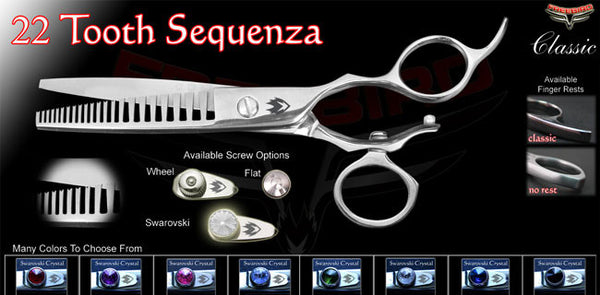 V Swivel 22 Sequenza Texturizing Shears