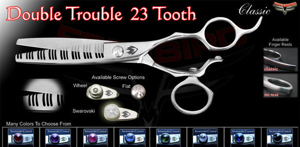 V Swivel 23 Tooth Double Trouble Texturizing Shears