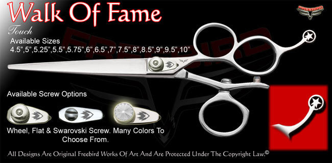 Walk Of Fame 3 Hole V Swivel Touch Grooming Shears