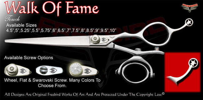 Walk Of Fame Double V Swivel Touch Grooming Shears