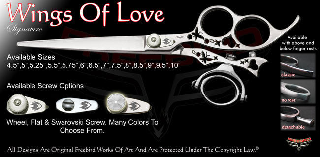 Wings Of Love 3 Hole Double Swivel Thumb Signature Grooming Shears