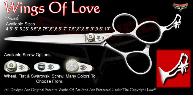 Wings Of Love 3 Hole Touch Grooming Shears