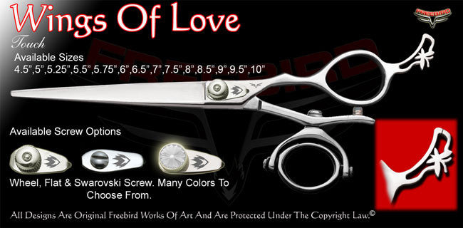 Wings Of Love Double V Swivel Touch Grooming Shears