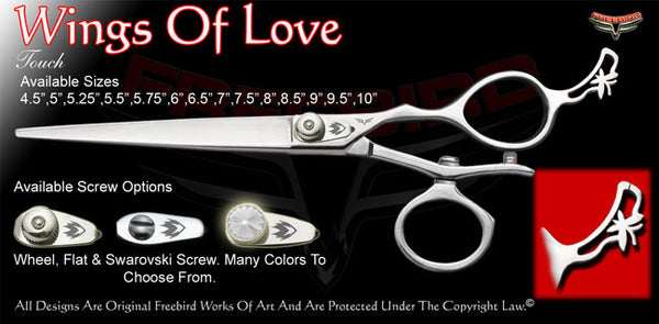Wings Of Love V Swivel Touch Grooming Shears
