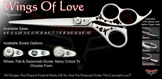 Wings Of Love 3 Hole Signature Grooming Shears
