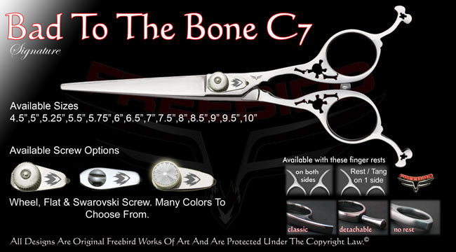 Bad To The Bone C7 Straight Signature Hair Shears