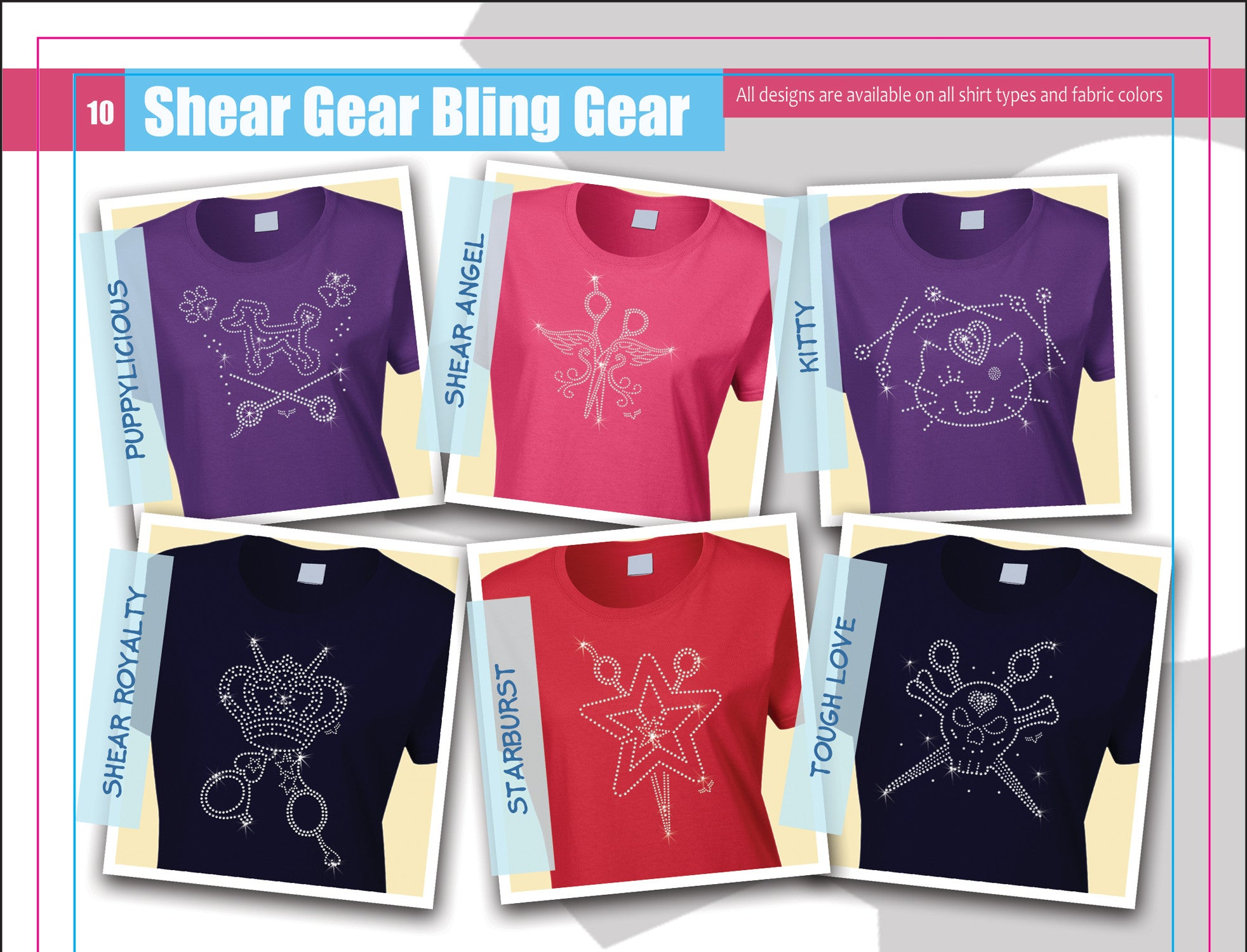 Designer Rhinestone Shirts Page 3 Colored Examples