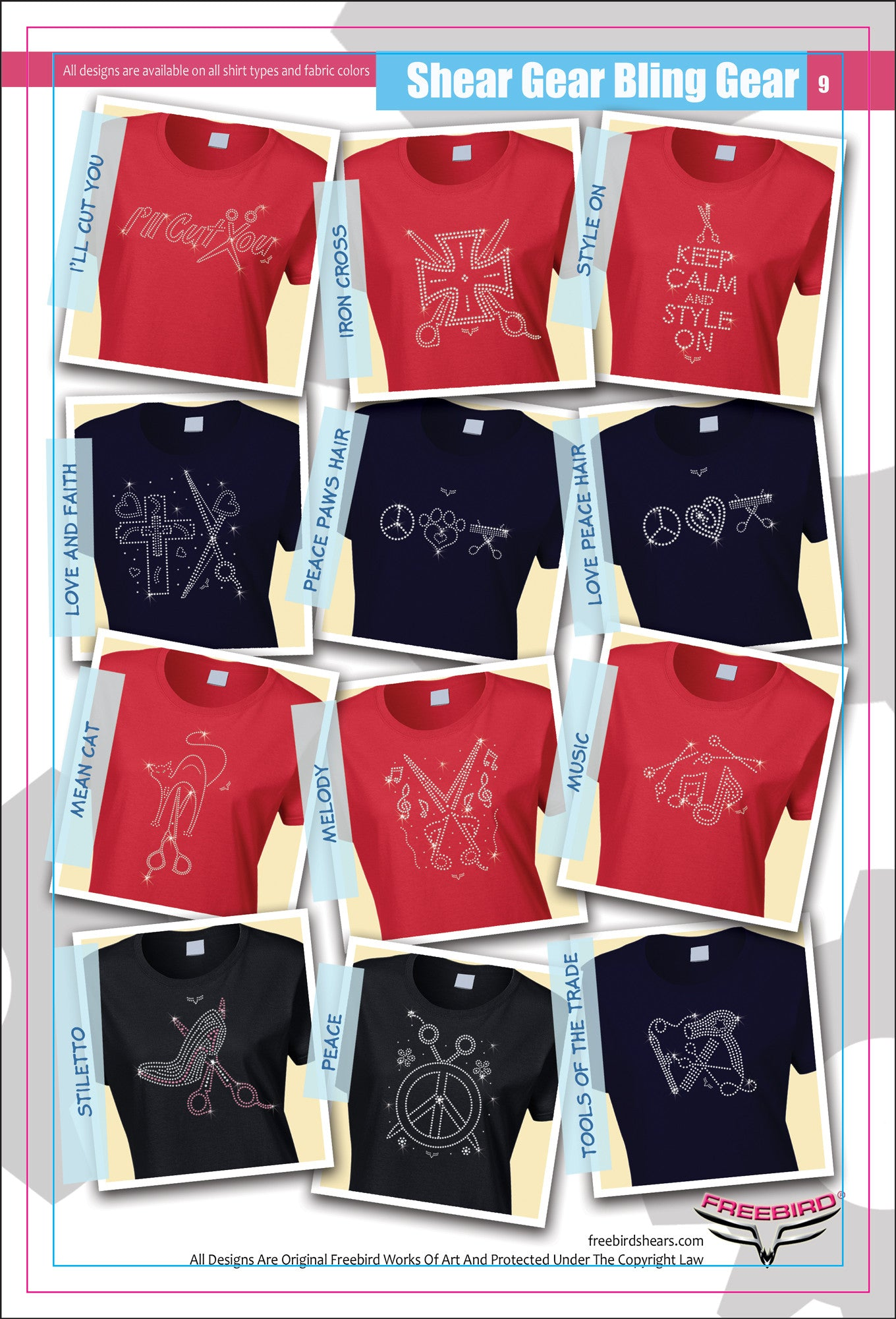 Designer Rhinestone Shirts Page 2 Red Examples